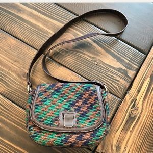 NWOT Talbots crossbody purse w/ knitted exterior